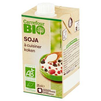 Carrefour Bio Produkt roślinny na bazie soi i oleju słonecznikowego UHT 250 ml