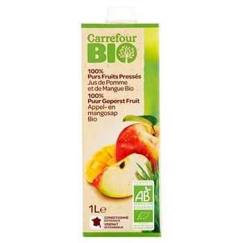 Carrefour Bio Sok jabłkowy z mango 1 l