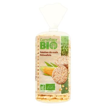 Carrefour Bio Wafle kukurydziane 115 g