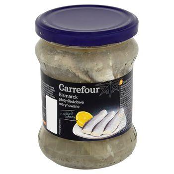 Carrefour Bismarck Płaty śledziowe marynowane 450 g