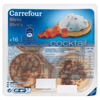 Carrefour Bliny Naleśniki drożdżowe 135 g (16 sztuk)