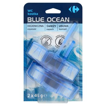 Carrefour Blue Ocean Kostki do WC barwiące wodę 2 x 45 g