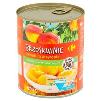 Carrefour Brzoskwinie premium w syropie połówki 820 g