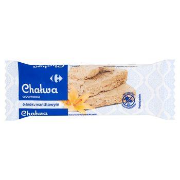 Carrefour Chałwa sezamowa o smaku waniliowym 50 g