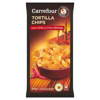 Carrefour Chipsy tortilla o smaku chili 200 g