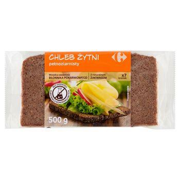 Carrefour Chleb żytni pełnoziarnisty 500 g