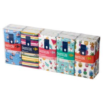 Carrefour Chusteczki higieniczne 10 x 10 sztuk