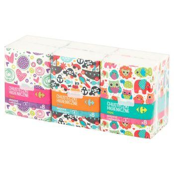 Carrefour Chusteczki higieniczne mini 6 x 8 sztuk