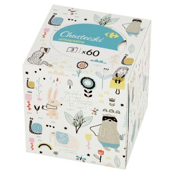 Carrefour Chusteczki uniwersalne 60 sztuk
