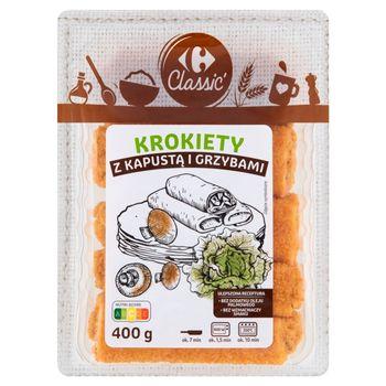 Carrefour Classic Krokiety z kapustą i grzybami 400 g