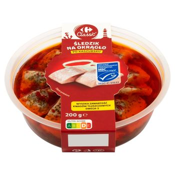 Carrefour Classic Śledzik na okrągło po kaszubsku 200 g