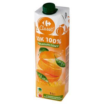 Carrefour Classic Sok 100% pomarańczowy 1 l