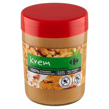 Carrefour Crunchy Krem z orzeszków ziemnych 450 g