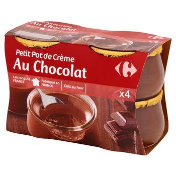 Carrefour Deser mleczny z kremem o smaku czekoladowym 400 g (4 sztuki)