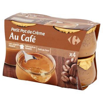 Carrefour Deser mleczny z kremem o smaku kawowym 400 g (4 sztuki)