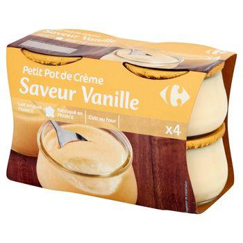 Carrefour Deser mleczny z kremem o smaku waniliowym 400 g (4 sztuki)