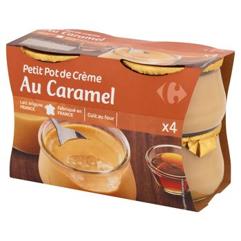 Carrefour Deser mleczny ze śmietanką i karmelem 400 g (4 sztuki)