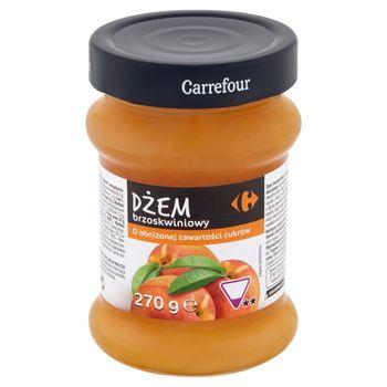 Carrefour Dżem brzoskwiniowy o obniżonej zawartości cukrów 270 g