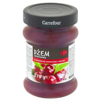 Carrefour Dżem wiśniowy o obniżonej zawartości cukrów 270 g