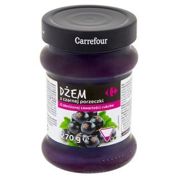 Carrefour Dżem z czarnej porzeczki o obniżonej zawartości cukrów 270 g