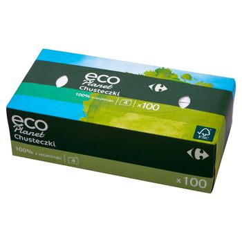 Carrefour Eco Planet Chusteczki 4-warstwowe 100 sztuk