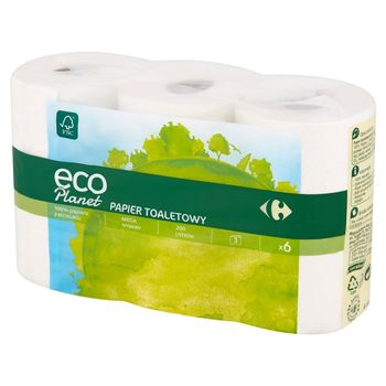 Carrefour Eco Planet Papier toaletowy 6 rolek