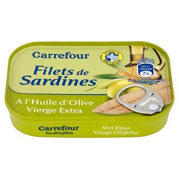 Carrefour Filety z sardynki w oliwie z oliwek extra vergine 100 g