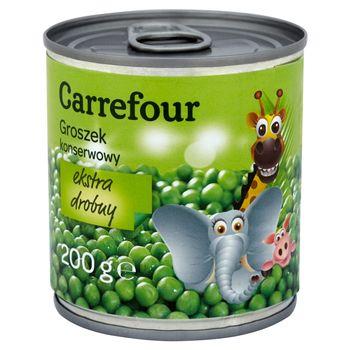 Carrefour Groszek konserwowy ekstra drobny 200 g
