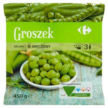 Carrefour Groszek zielony mrożony 450 g