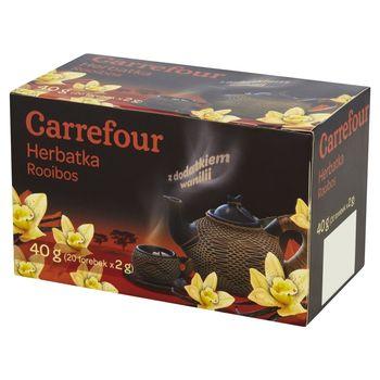 Carrefour Herbatka Rooibos z dodatkiem wanilii 40 g (20 torebek)