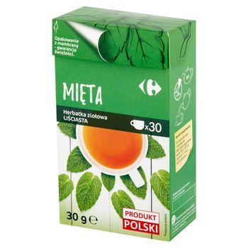 Carrefour Herbatka ziołowa liściasta mięta 30 g