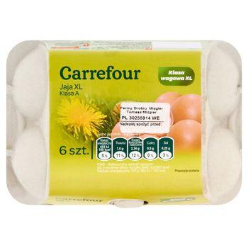 Carrefour Jaja kurze z chowu klatkowego XL 6 sztuk