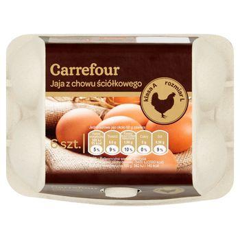 Carrefour Jaja z chowu ściółkowego L 6 sztuk