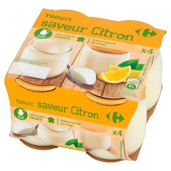 Carrefour Jogurt o smaku cytrynowym 500 g (4 sztuki)