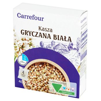 Carrefour Kasza gryczana biała 400 g (4 x 100 g)