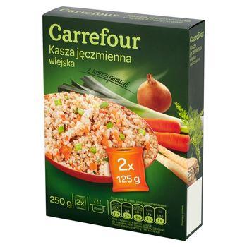 Carrefour Kasza jęczmienna wiejska z warzywami 250 g (2 torebki)