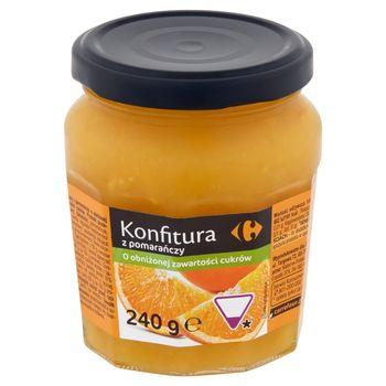 Carrefour Konfitura z pomarańczy o obniżonej zawartości cukrów 240 g