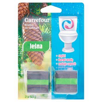 Carrefour Kostka do spłuczki leśna 2 x 50 g