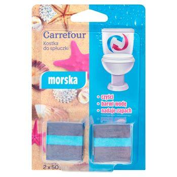 Carrefour Kostka do spłuczki morska 2 x 50 g