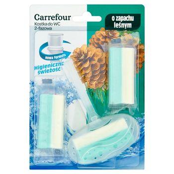 Carrefour Kostka do WC 2-fazowa o zapachu leśnym 3 x 40 g