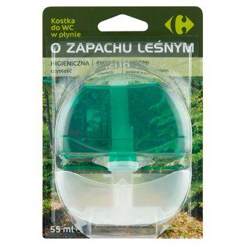 Carrefour Kostka do WC w płynie o zapachu leśnym 55 ml