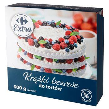 Carrefour Extra Krążki bezowe do tortów 600 g (3 sztuki)