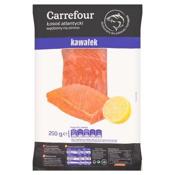 Carrefour Łosoś atlantycki wędzony na zimno kawałek 250 g