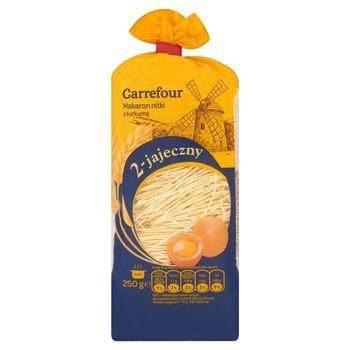 Carrefour Makaron nitki z kurkumą 2-jajeczny 250 g
