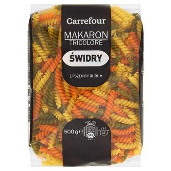 Carrefour Makaron tricolore z pszenicy durum świdry 500 g