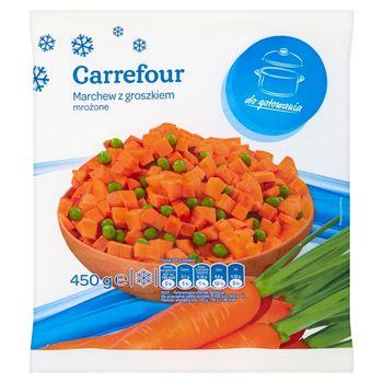 Carrefour Marchew z groszkiem mrożone 450 g