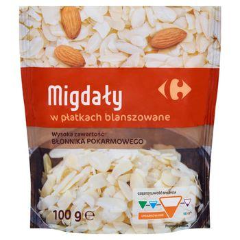 Carrefour Migdały w płatkach blanszowane 100 g