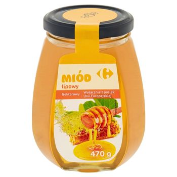 Carrefour Miód lipowy nektarowy 470 g