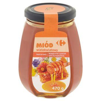 Carrefour Miód wielokwiatowy nektarowy 470 g