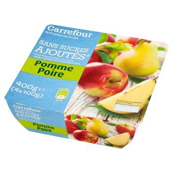 Carrefour Mus owocowy jabłkowo-gruszkowy 400 g (4 sztuki)